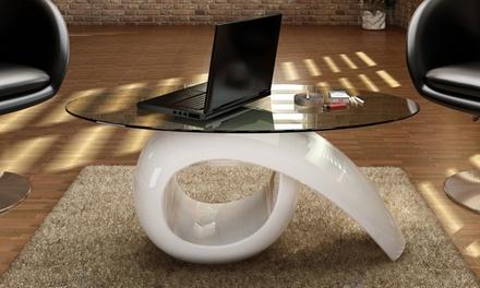 Table basse avec plateau en verre VidaXL