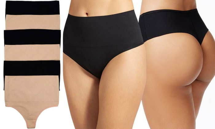 4e5d2ee320d5 Women's Compression High-Waisted Control Thongs (6-Pack) | Groupon