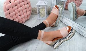 (Mode)  Sandales à plate-forme compensées