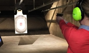 Shot Spot: Range Time or Laser Guided Steel Target Game for Two at Shot Spot (Up to 65% Off). Four Options Available.
