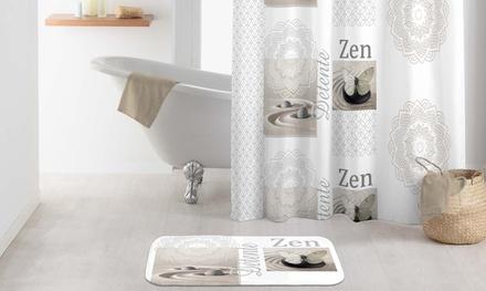 Rideau de douche et / ou tapis de bain ou le lot