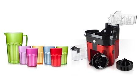 Exprimidor doble y/o set de vasos y jarra de colores