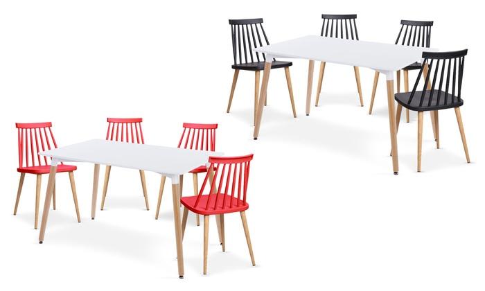 ScandinaveLot ChaisesGroupon 4 De Shopping Table KcFu1Tl3J