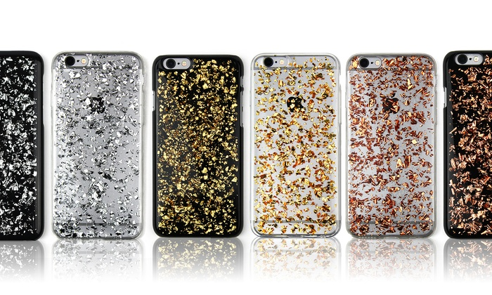 new products 43353 cd036 Gold Flake Smartphone Case for iPhone 6/6s