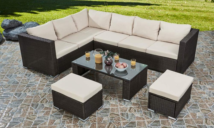 Five-Piece PE Rattan Garden Sofa Set for £689
