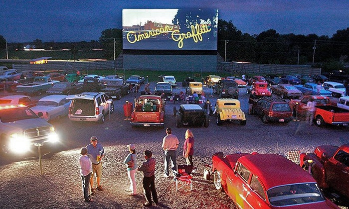 The Family Drive-In Theatre - Stephens City, VA: $25.99 for Drive-In Double Feature for Two Adults, Two Kids, and Snacks at The Family Drive-In ($46 Value)