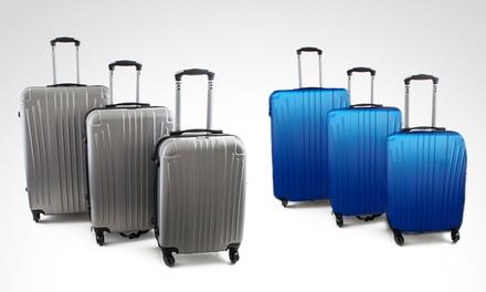4cb0b3fc5 Desde $3265 en vez de $5000 por set de 3 valijas rígidas ultraliviana para  retirar en