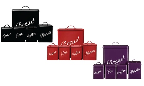 Five-Piece Canister Set in Choice of Colour