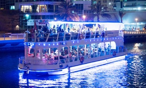Desert Rangers: Yas Marina Glass Boat Dinner Cruise for Up to Six with Desert Rangers (Up to 31% Off)