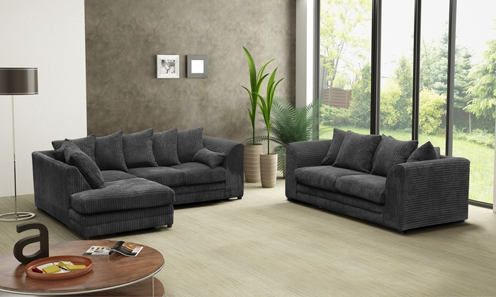 Groupon Goods Global GmbH: Milo Plain Sofa Collection from €309.98 With Free Delivery (Up to 46% Off)