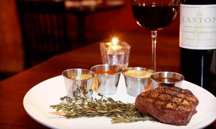 Jim Edmonds 15 Steakhouse - St. Louis: NYE Steakhouse Meal with Drinks for 2, 4, 6, or 10 at Jim Edmonds 15 Steakhouse (Up to 53% Off). 10 Options Available.