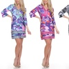 Carmen Women's Printed 3/4 Sleeve Dress