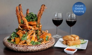 Jonker Walk Malaysian Restaurant & Bar: $79 Malaysian Seafood Platter for Two People with Wine at Jonker Walk Malaysian Restaurant & Bar (Up to $118 Value)