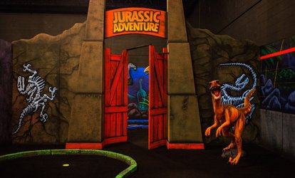 image for Round of Blacklight Mini-Golf for Two, Four, or Six People at Jurassic Golf (Up to 65% Off)