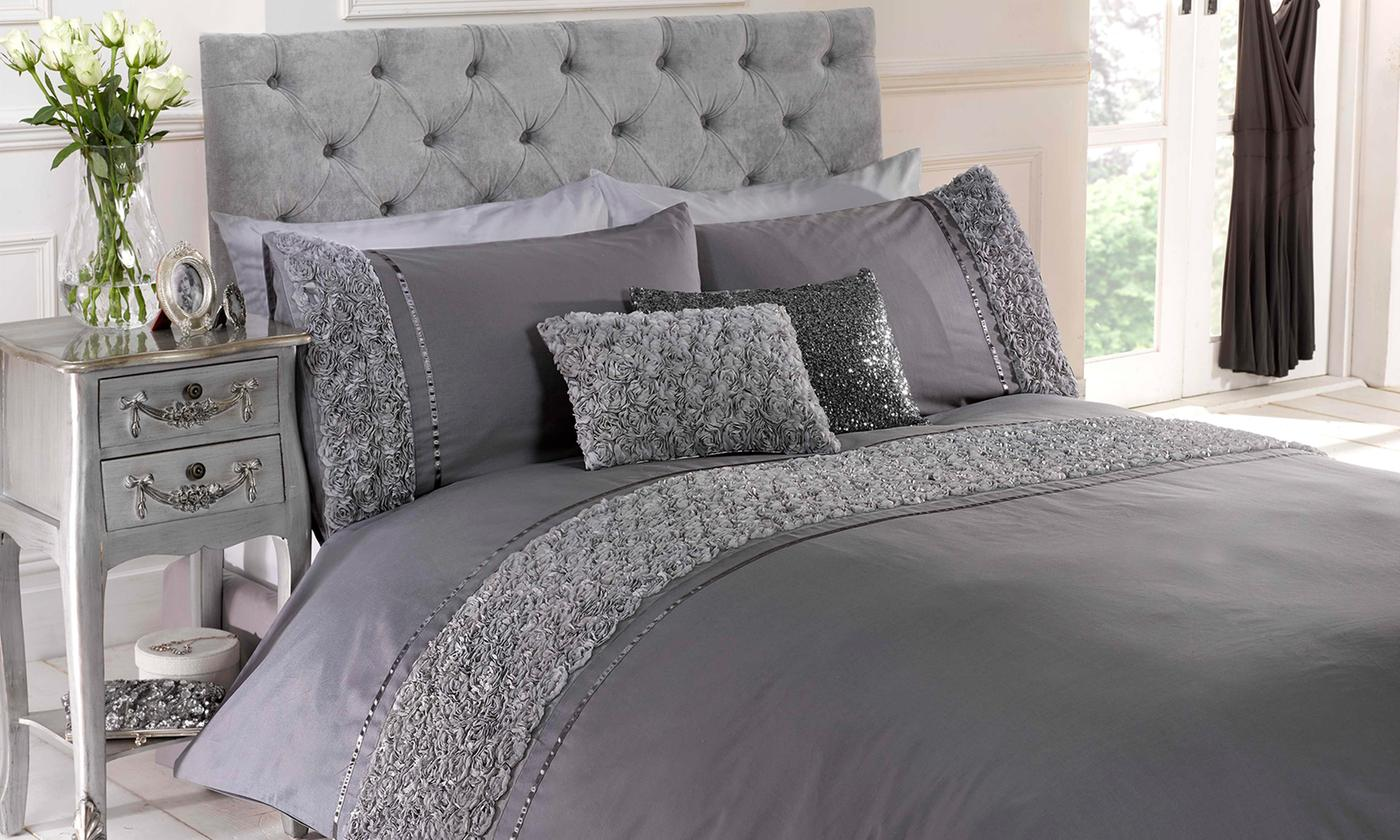 Rapport Home Belle Maison Ruched Textured Duvet Cover Sets