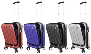 Mia Toro Italy Tasca Fusion Hardside Spinner Carry-On Luggage