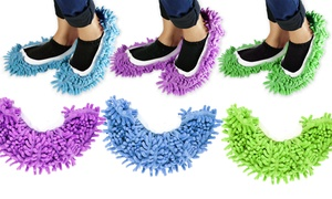 Microfiber Washable Chenille Mop Slippers (2-Pair Pack)
