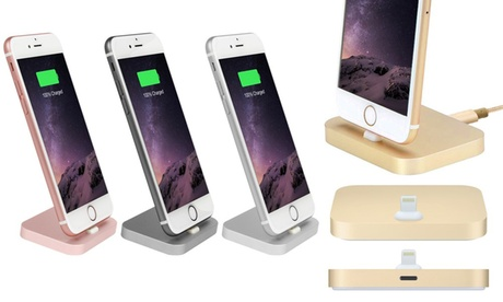 Aluminium Charging Dock for iPhone with Optional Braided Cable