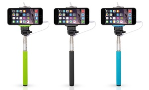 Lucky 7 Monopod Selfie Stick With Cable For Most Smartphones