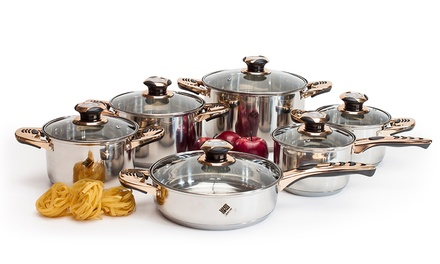 12 Piece Stainless Steel Professional Pan Set With Free Delivery