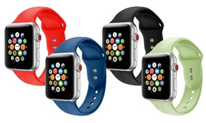 Silicone Sports Replacement Band for Apple Watch Series 1, 2, or 3