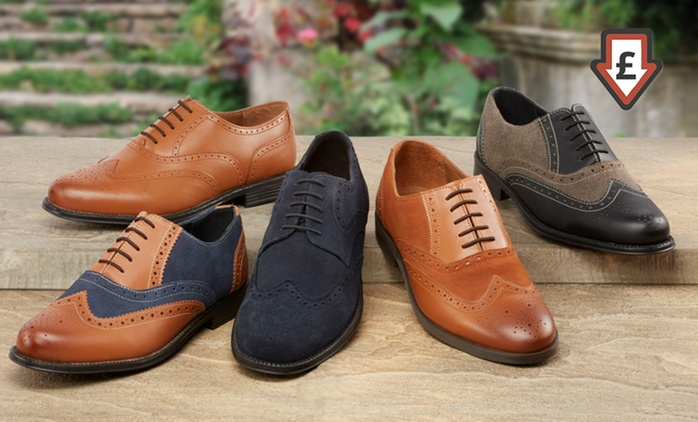 Men's Leather Brogues for £22.99-£24.98