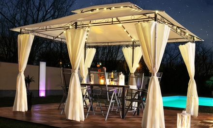 SwingHarmony Luxus-Pavillon Minzo inkl. 4 Seitenwänden optional mit LED-Solar Beleuchtung in der Farbe nach Wahl 3x4 m  : 169,99 €