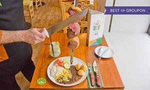 Vila Brasil: Bufet libre, rodizio con hasta 14 tipos de carne y bebida con opción a postre para 2 o 4 desde 34,95 € en Vila Brasil