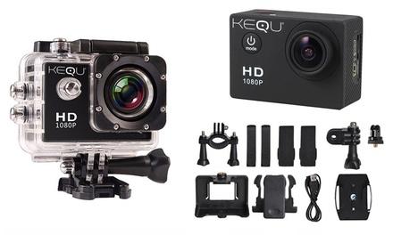 Kequ wasserfeste HD-Aktion-Kamera 16 MP in Schwarz, Gold oder Silber (Berlin)