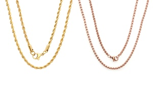 Unisex 18K Gold Plated Chain Necklaces at Unisex 18K Gold Plated Chain Necklaces, plus 6.0% Cash Back from Ebates.