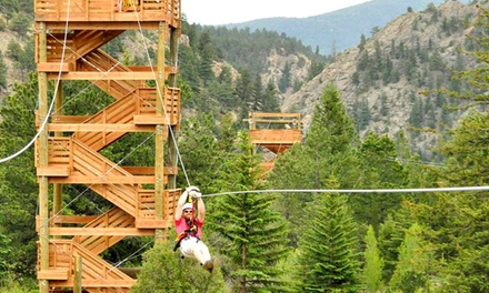 Clear Creek Zip Line Special for One, Two, or Four at Colorado Adventure Center (Up to 37% Off)