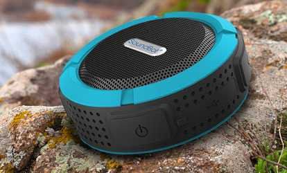08495c9c6ad Shop Groupon SoundBot SB512 Water-Resistant Portable Bluetooth Shower  Speaker