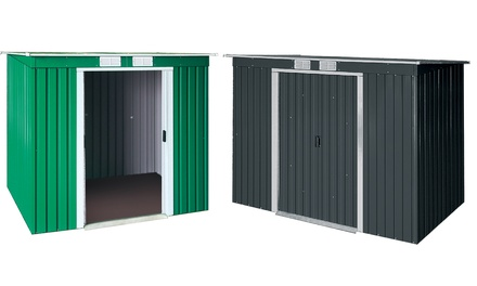 """Tepro Metallgerätehaus """"Pent Roof"""" mit Schiebetürenund Pultdach in der Farbe und Größe nach Wahl  (274,99 €)"""
