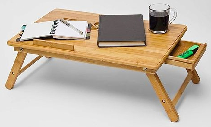 Groupon Goods: Fine Living Bamboo Laptop Table from R399.99 Including Delivery (46% Off)