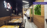 Menú para 2 o 4 con show cooking, entrante, principal, postre y bebida desde 29,95 € en TinGana