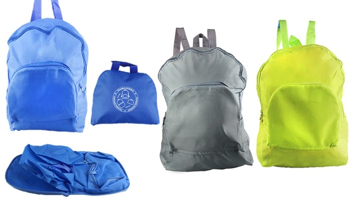 One or Two Foldable Water-Resistant Backpacks for £3.98