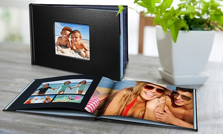 Personalised Leather-Look Photobook: 20 ($13.95), 40 ($17.95) or 60 Pages ($19.95) (Don't Pay up to $164.97)