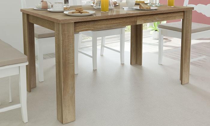 table de salle manger 140 cm groupon. Black Bedroom Furniture Sets. Home Design Ideas