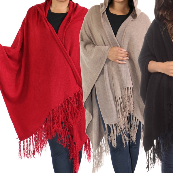785d50a570 Women s Plus Size Hooded Shawl Wraps