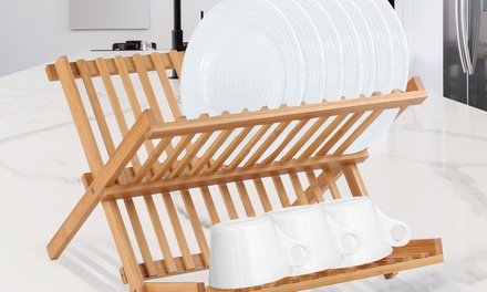$35 for a Bamboo Cutlery Tray or a Two-Tier Dish Rack