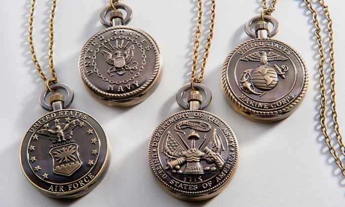 Strada Armed Forces Pocket Watches: $8.99 for a Strada Armed Forces Pocket Watch ($75 List Price). 4 Styles Available. Free Returns.