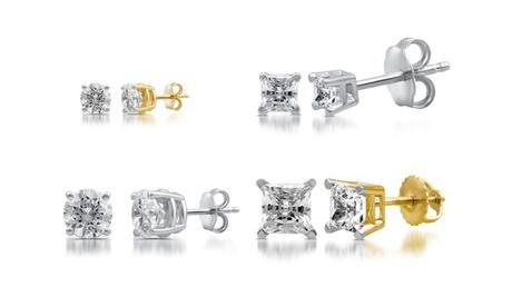 1/10-2.00 CTTW Certified I2-I3 Diamond Stud Earrings in 14K Gold by DeCarat