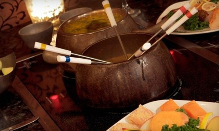 Simply Fondue - Ridgewood: Cheese or Chocolate Fondue for Two, Both for Four, or Four-Course Meal for Two with Champagne at Simply Fondue (Up to 60% Off)