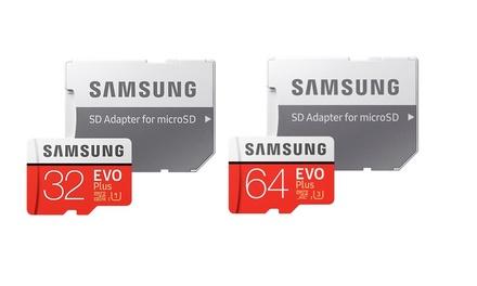 Cartes SD Samsung EVO+, 32GB ou 64GB, avec adaptateur et livraison offerte
