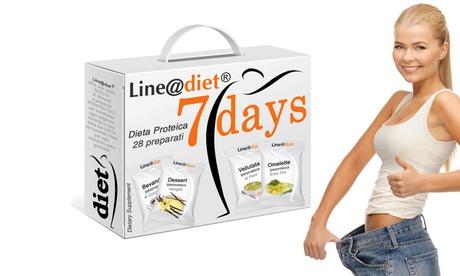 Kit dieta dimagrante per 7 giorni Line@Diet con preparati veloci dolci o salati disponibile in vari assor