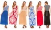 Women's Printed Maxi Dresses: Women's Printed Maxi Dresses