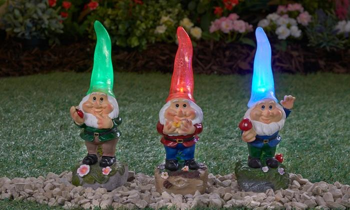 Charmant ... Light Up Garden Gnome Solar Light ...
