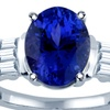 3.25 CTTW Tanzanite and Diamond Ring in 14K White Gold