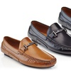 Henry Ferrera Men's Casual Dress Loafers with Fashion Buckle