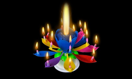 Fino a 6 candele rotanti musicali per torte disponibili in vari colori